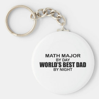 World's Best Dad - Math Major Basic Round Button Key Ring