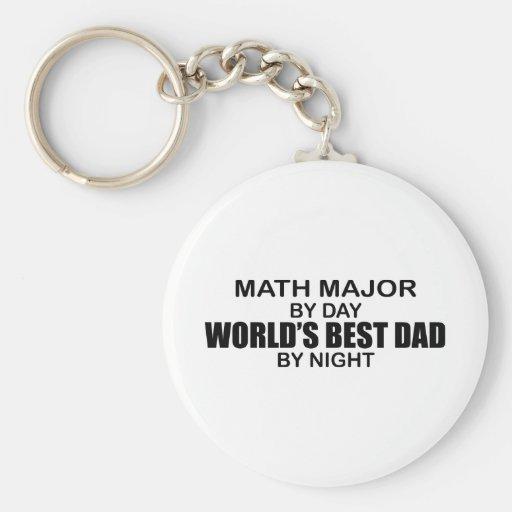 World's Best Dad - Math Major Keychains
