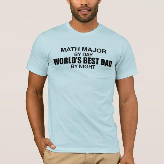 World's Best Dad - Math Major T-Shirt