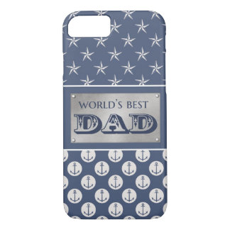 World's Best Dad Nautical Theme iPhone 7 Case