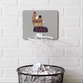World's Best Dad Patriotic Mini Basketball Hoop