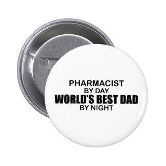 World's Best Dad - Pharmacist 6 Cm Round Badge