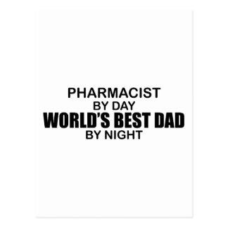 World's Best Dad - Pharmacist Postcard