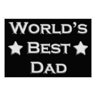 World's Best Dad Poster