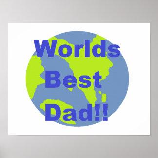 Worlds Best Dad Poster