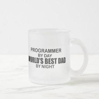 World's Best Dad - Programmer Frosted Glass Coffee Mug