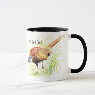 World's Best Dad, Ring Necked Pheasant, Bird Mug
