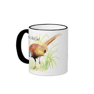 World's Best Dad, Ring Necked Pheasant, Bird Ringer Mug