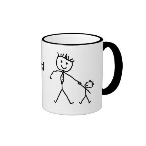 Worlds Best Dad Ringer Mug