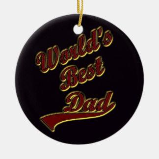 World's Best Dad Round Ceramic Decoration