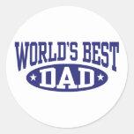 World's Best Dad Round Stickers