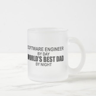 World's Best Dad - Software Engineer Frosted Glass Mug