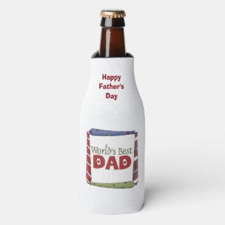 World's Best Dad Ties Bottle Cooler