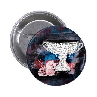 World's best dad trophy text design 6 cm round badge
