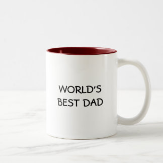 WORLD'S BEST DAD Two-Tone COFFEE MUG
