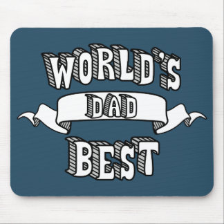 World's Best Dad Typography Text Mousepad