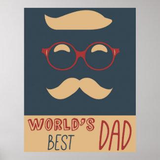 Worlds Best Dad vintage poster