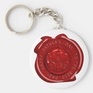 World's best dad wax seal basic round button key ring