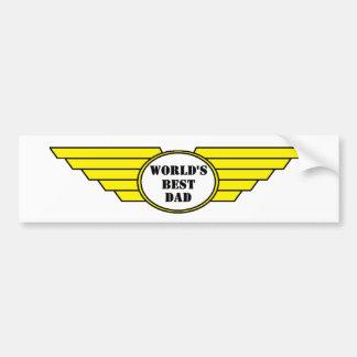 Worlds best dad wings bumper sticker