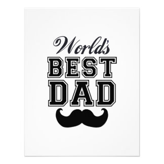 World's best dad with mustache custom invitation