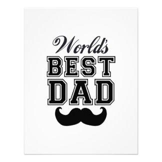 World's best dad with mustache custom invitation