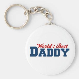 Worlds Best Daddy Basic Round Button Key Ring