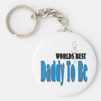 World's Best Daddy To Be Basic Round Button Key Ring