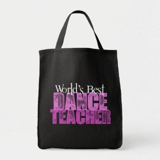 World's Best Dance Teacher Canvas Bags