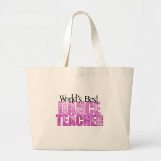 World's Best Dance Teacher Jumbo Tote Bag