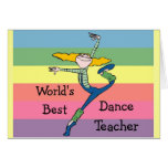 World's best dance teacher merchandise greeting card