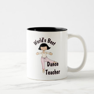 World's Best Dance Teacher Two-Tone Coffee Mug