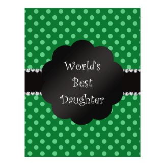World's best daughter green polka dots personalized flyer