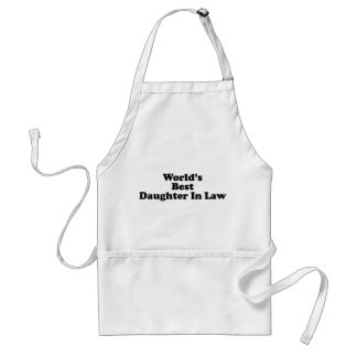 World's Best Daughter in Law Standard Apron