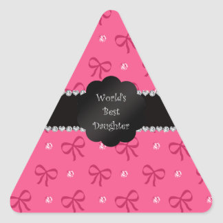 World's best daughter pink bows diamonds stickers
