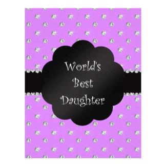 World's best daughter purple diamonds custom flyer