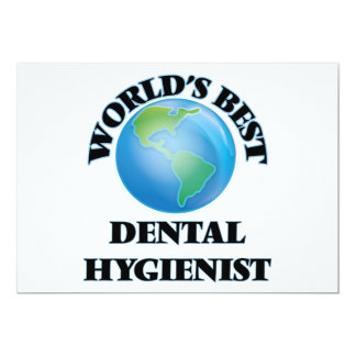 World's Best Dental Hygienist Personalized Announcement Cards