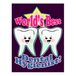 Worlds Best Dental Hygienist Postcard