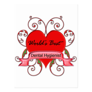World's Best Dental Hygienist Postcard