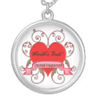World's Best Dental Hygienist Silver Plated Necklace