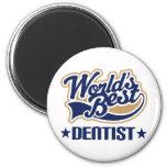 Worlds Best Dentist 6 Cm Round Magnet