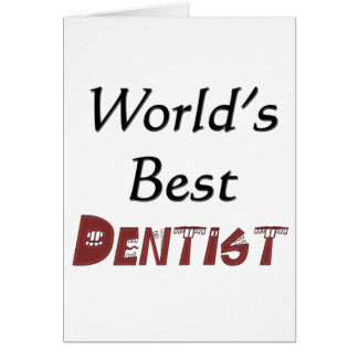 World's Best Dentist Card