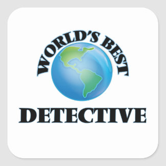 World's Best Detective Stickers