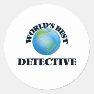 World's Best Detective Round Sticker