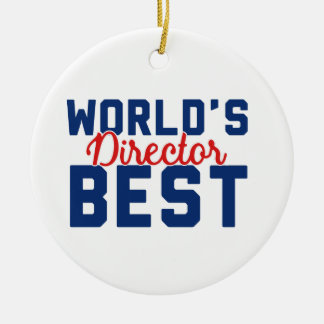 World's Best Director Christmas Ornament