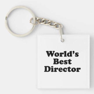 World's Best Director Single-Sided Square Acrylic Key Ring