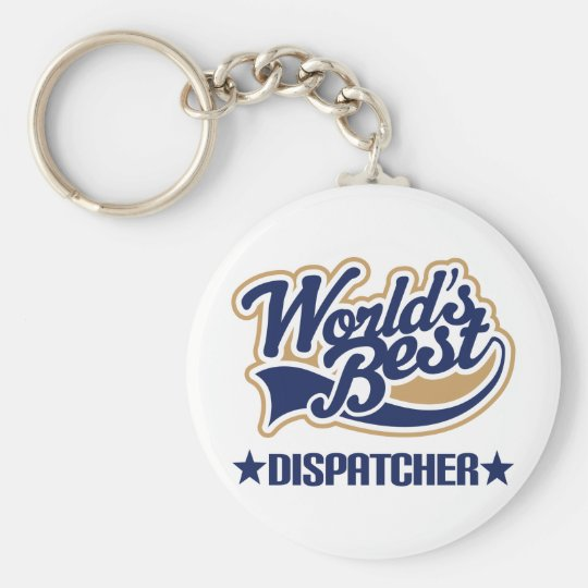 Worlds Best Dispatcher Basic Round Button Key Ring