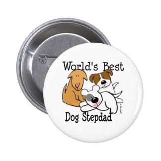 World's Best Dog Step Dad Button