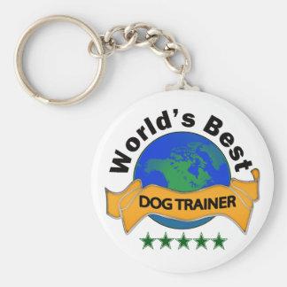 World's Best Dog Trainer Basic Round Button Key Ring