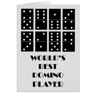 World's Best Domino Player Greeting Card