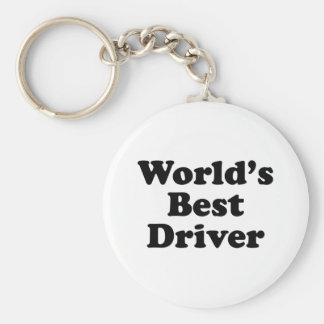 World's Best Driver Basic Round Button Key Ring